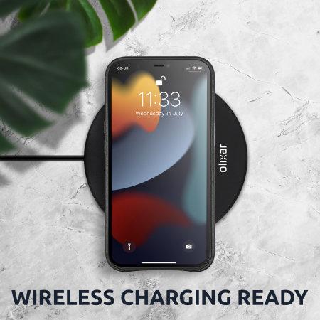 Olixar Genuine Leather iPhone 13 Pro Max Slim Case - Graphite