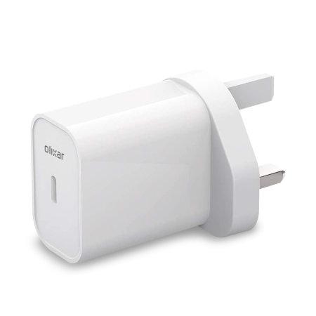 Olixar Oculus Quest 2 PD 20W USB-C Wall Charger - UK Plug - White