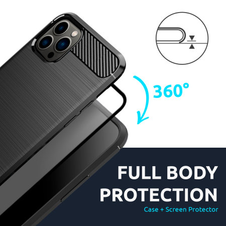 Olixar Sentinel iPhone 13 Pro Max Case and Glass Screen Protector