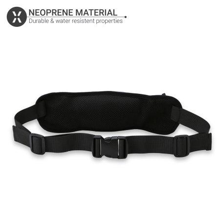 Olixar Adjustable Running Belt With 2 Bottle Holders & Pouch - Black