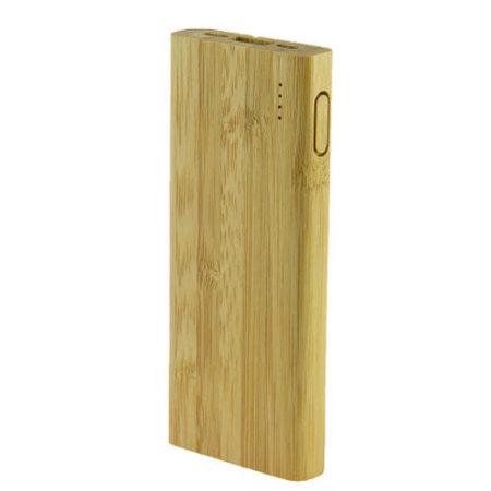 Ksix Bamboo Eco-Friendly 5000 mAh Power Bank - Brown