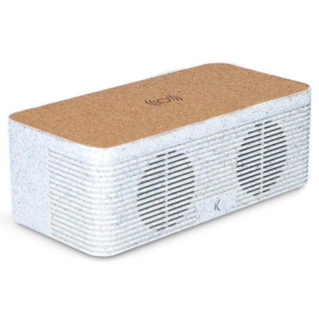 Ksix Eco-Friendly Wireless Speaker With Qi Wireless Charging - Grey