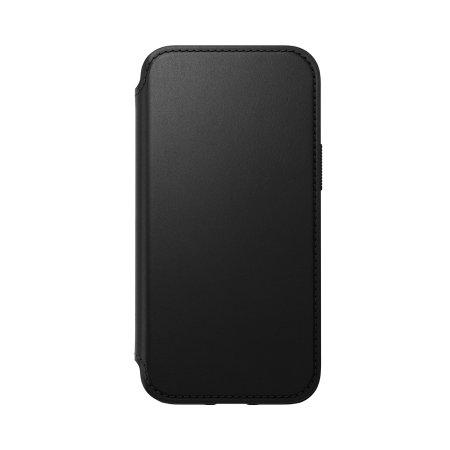 Nomad iPhone 13 mini Horween Leather Modern Folio Case - Black
