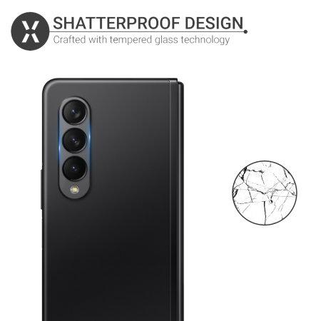 Olixar Samsung Galaxy Z Fold 3 Tempered Glass Camera Protector- 2 Pack