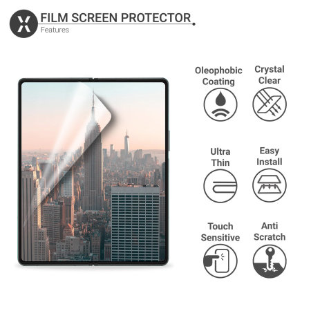 Olixar Samsung Galaxy Z Fold 3 Film Screen Protectors - Two Pack