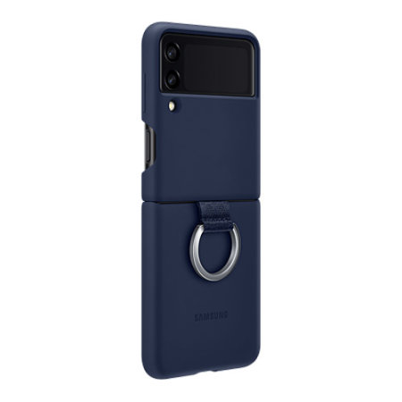 Official Samsung Galaxy Z Flip 3 Silicone Ring Stand Case - Navy