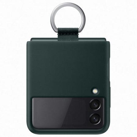 Official Samsung Galaxy Z Flip 3 Silicone Ring Case - Green