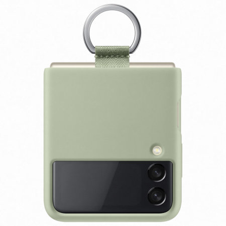 Official Samsung Galaxy Z Flip 3 Silicone Ring Case - Olive Green