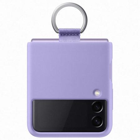Official Samsung Galaxy Z Flip 3 Silicone Ring Case - Lavender