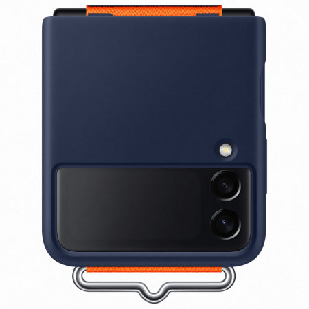 Official Samsung Galaxy Z Flip 3 Silicone Case With Strap - Navy
