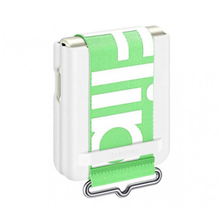 Official Samsung Galaxy Z Flip 3 Silicone Case With Strap - White