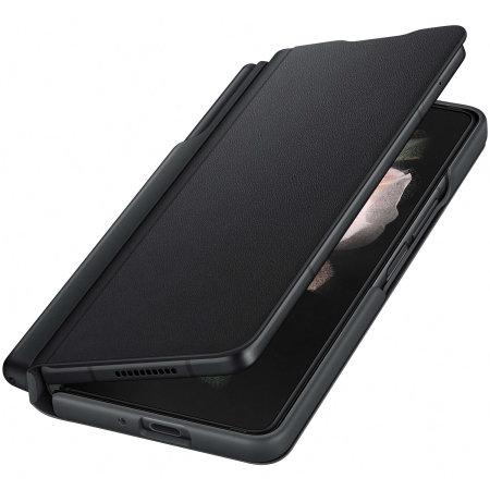 Official Samsung Galaxy Z Fold 3 Flip Case With Pen - Black