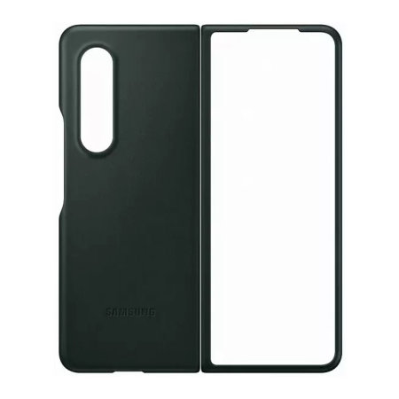Official Samsung Galaxy Z Fold 3 Genuine Leather Cover Case - Green
