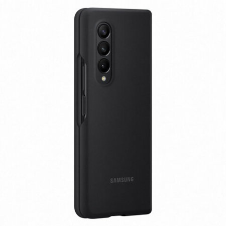Official Samsung Galaxy Z Fold 3 Soft Silicone Case - Black