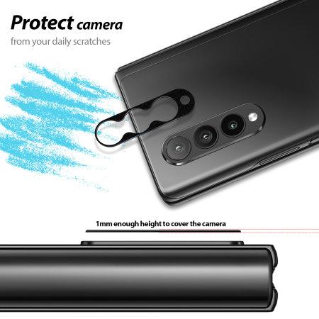 Whitestone Dome EZ Samsung Galaxy Z Fold 3 Camera Protector - 2 Pack