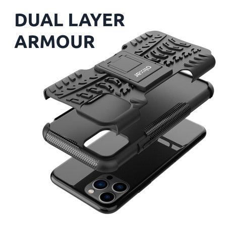 Olixar ArmourDillo iPhone 13 Pro Tough Case - Black