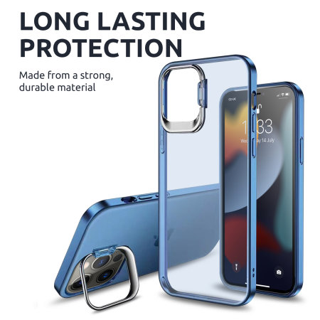 Olixar iPhone 13 Pro Max Camera Stand Case - Sierra Blue