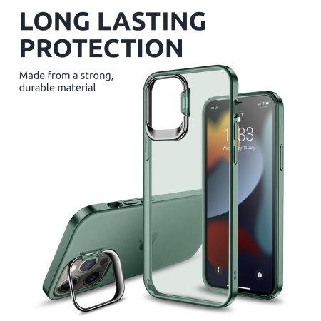Olixar iPhone 13 Pro Max Camera Stand Case - Green