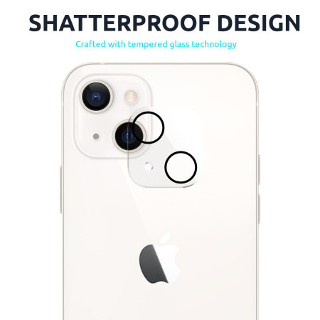 Olixar iPhone 13 Tempered Glass Camera Protector - Twin Pack