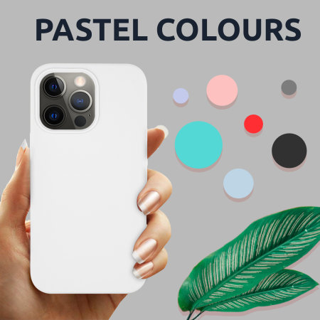 Olixar Soft Silicone iPhone 13 Pro Max Case - White