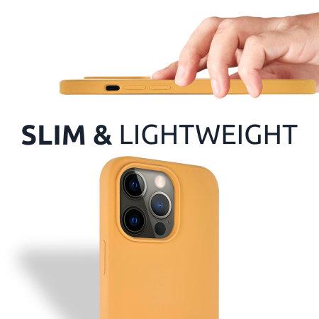 Olixar Soft Silicone iPhone 13 Pro Case - Sunset Gold