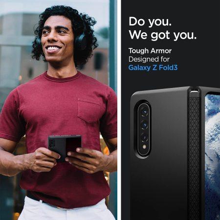 Spigen Tough Armor Samsung Galaxy Z Fold 3 Rugged Case - Black