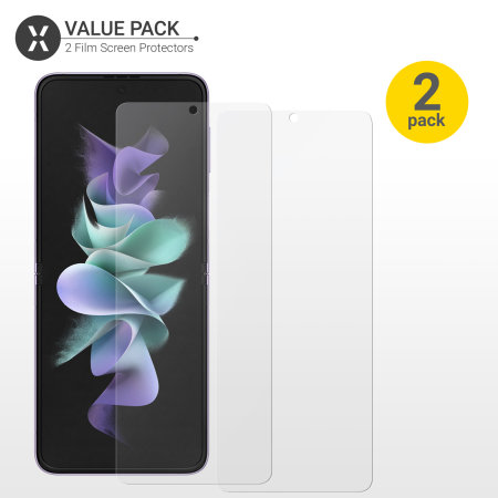 Olixar Samsung Galaxy Z Flip 3 Film Screen Protectors - Twin Pack