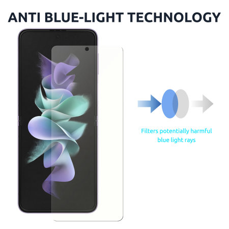 Olixar Samsung Z Flip 3 Anti-Blue Light Film Screen Protectors- 2 Pack