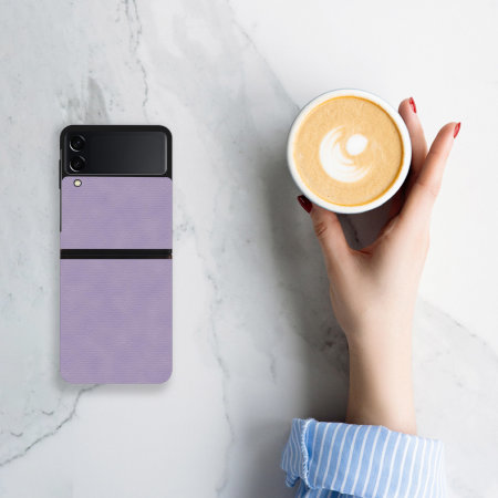 Olixar Genuine Leather Samsung Galaxy Z Flip 3 Case - Purple