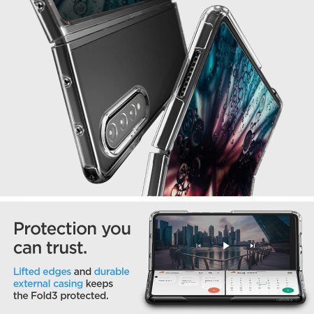 Spigen Ultra Hybrid Samsung Galaxy Z Fold 3 Protective Case - Clear