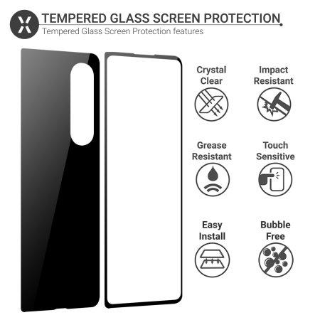 Olixar Samsung Z Fold 3 Front Glass Screen Protector & Skin Back Cover