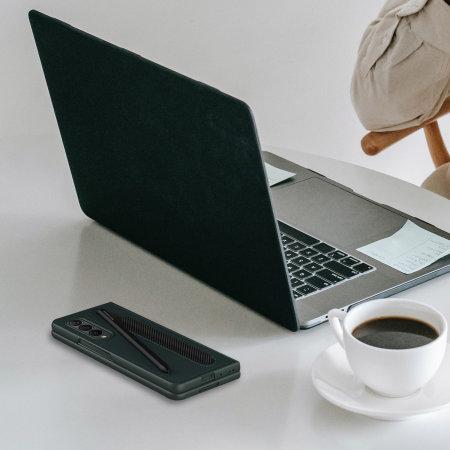 Olixar Leather Style Samsung Galaxy Z Fold 3 S Pen Case - Green