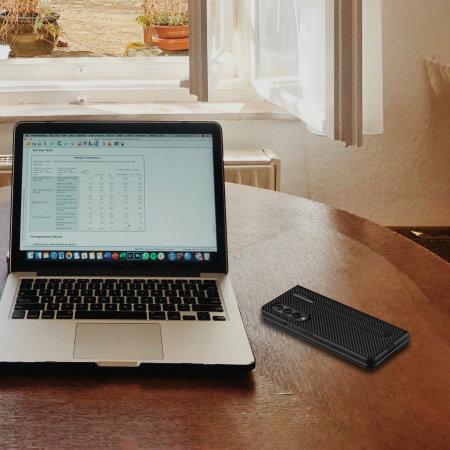 Olixar Carbon Fibre Samsung Galaxy Z Fold 3 S Pen Case - Black