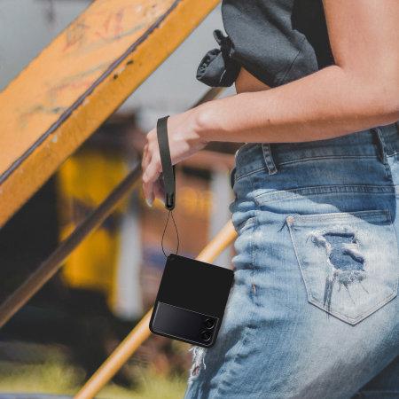 Olixar Fortis Samsung Galaxy Z Flip 3 Case, Hand Strap & Lanyard