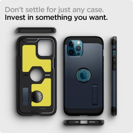 Spigen Tough Armor iPhone 13 Pro Max Protective Case - Metal Slate