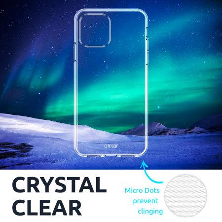 Olixar iPhone 13 mini Clear Case, Screen & Camera Protector Pack