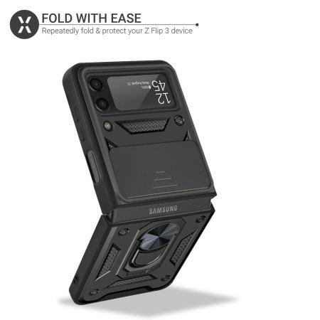 Olixar Samsung Galaxy Z Flip 3 Finger Ring Case - Black