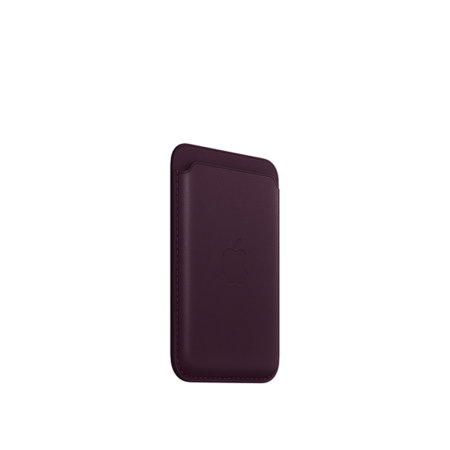 Official Apple iPhone Leather Wallet With MagSafe - Dark Cherry