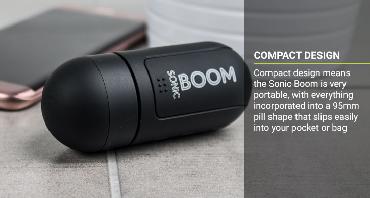 Pocket Boom Portable Vibration Speaker - Black