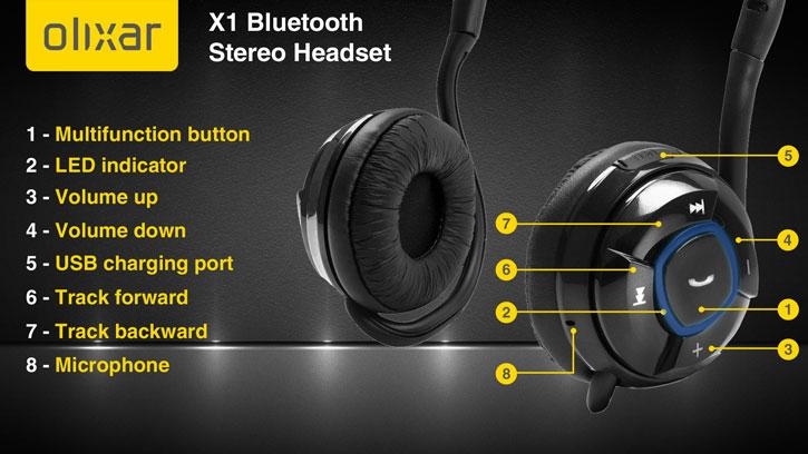 Olixar X1 Bluetooth Stereo Headset