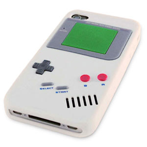 Retro Game Boy Case for iPhone 4S - White