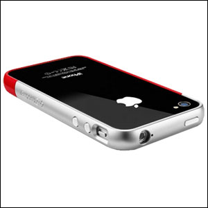 SGP iPhone 4 / 4S Case Linear EX Meteor Series - Red/Silver