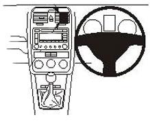 Brodit ProClip Centre Mount - Volkswagen GTI/ Golf/ Jetta