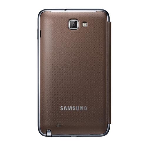 Genuine Samsung Galaxy Note Flip Cover - Brown