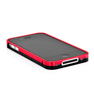 Capdase Alumor Bumper for iPhone 4 - Red/Black