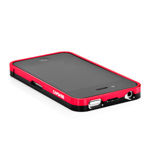 Capdase Alumor Bumper for iPhone 4 - Red/Silver