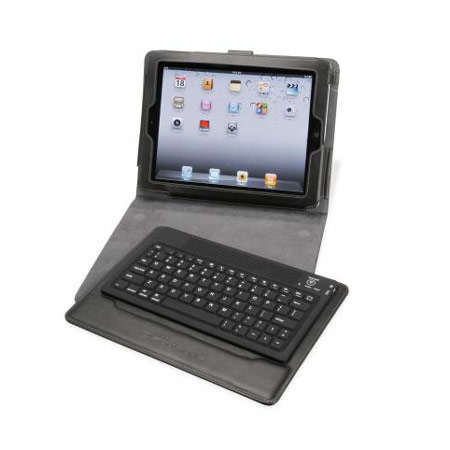 Scosche KeyPad iPad 3 Folio Case with Bluetooth Keyboard - Black