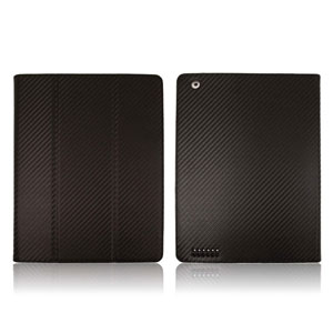Carbon Fibre Style iPad 3 / iPad 2 Case - Black