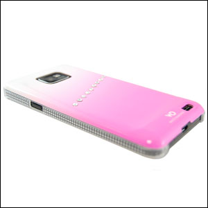 White Diamonds Samsung Galaxy S2 Case - Pink