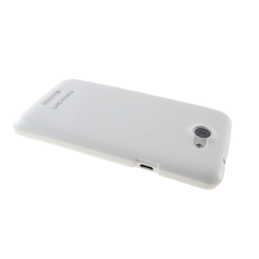 Metal-Slim UV Protective Case for HTC One X - White